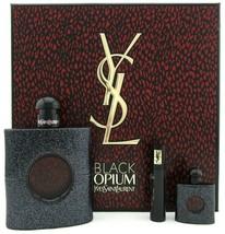 Yves Saint Laurent Black Opium Perfume 3.0 Oz Eau De Parfum Spray 3 Pcs Gift Set image 4