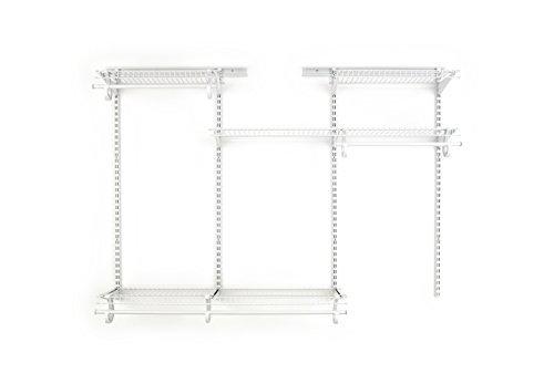 ClosetMaid 8808 ShelfTrack 4ft. to 6ft. Adjustable Closet Organizer Kit, White
