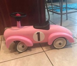 "Schylling Metal Speedster Car Pink Steel Ride On Toy 30"" Long Great Gift... - $54.45"