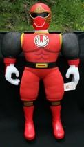 Power Ranger Vtg 2002 Groß Rot Bandai Plüsch Actionfigur 21 1.3cm Spielzeug - $19.16