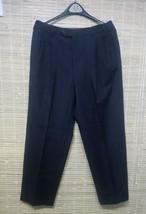 Tommy Hilfiger Pleated Men's Dress Pants Front Pinstripe Black 32 X 29 - $8.81