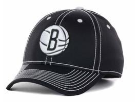 Brooklyn Nets adidas M401Z NBA Basketball Team Logo Stretch Fit Cap Hat S/M L/XL - $20.95
