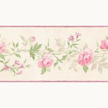 Vines of Roses Wallpaper Border Patton Norwall PP79452 Beige Pink Prepasted - $16.99