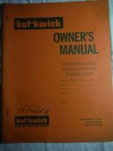 Kut-Kwick HM-2300-60 lawn tractor original owner's operators parts manua... - $16.41