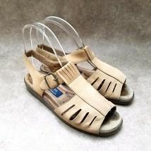 Easy Spirit Womens Anti-Gravity Sz 6 M Brown  Leather Open Toe Slingback Sandals - $26.99