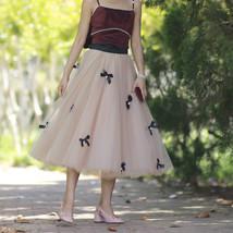 Handmade Champagne Tulle Skirt Outfit High Waisted Tulle Skirt Princess Skirt image 2