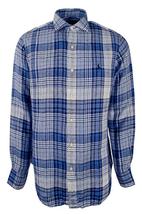 Polo Ralph Lauren Men's Plaid Sport Shirt, Blue\White, Size Medium - $54.44