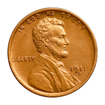 1911 D Lincoln Wheat Cent - Gem BU / MS / UNC  - $147.45
