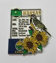Vtg Kansas Imán Viaje Recuerdo Frigorífico Decoración de Cocina - $8.58