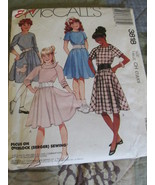 McCalls 3818 Girls Dress And Poodle Applique Size Child 7,8,10 Sewing Pa... - $6.99