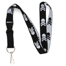 Skull and Crossbones Lanyard Keychain ID Holder with Detachable, Breakaw... - $7.99