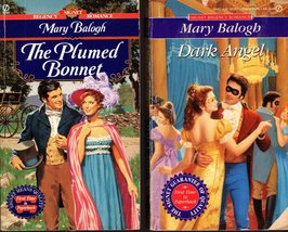 Mary Balogh - 3 Novels -The Plumed Bonnet, Dark Angel & Dancing With Clara - $2.95