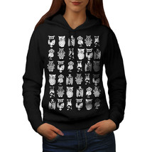 Multiple Owl Funny Sweatshirt Hoody Bird Artwork Women Hoodie - $21.99+