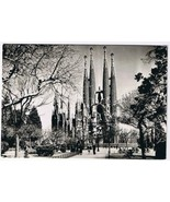 Spain Postcard RPPC Barcelona Holy Family Temple - $2.12
