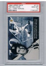 1994 All Time Heroes #113 Ted Williams PSA 10  - $49.45