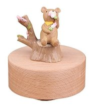 Personalizable Bear Musical Box Melody Carrying You from Castle in the Sky - £31.29 GBP