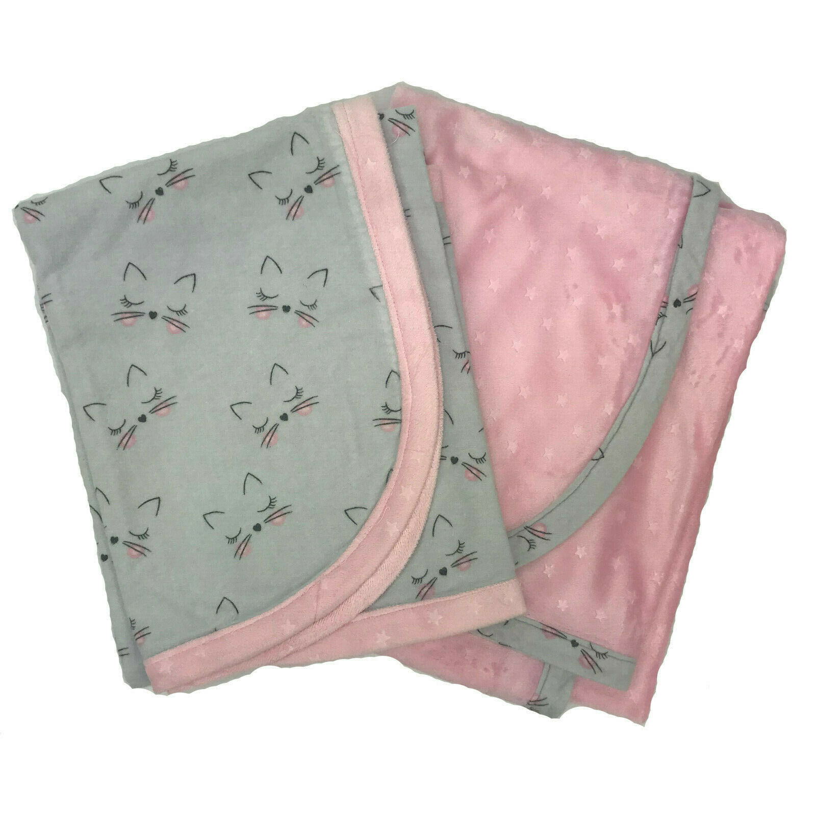 New Baby Soft Flannel Receiving Blankets Handmade 36 x 36 Sets of 2 - $19.99