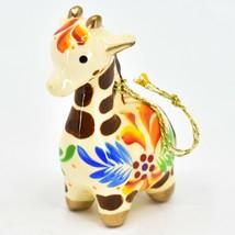 Handcrafted Painted Ceramic White Giraffe Confetti Ornament Made in Peru image 2
