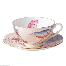NEW IN THE BOX Wedgwood Harlequin Cuckoo Tea Story Teacup and Saucer PEACH - $37.39