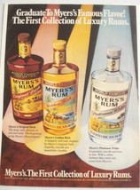1982 Color Ad Myer's Rum The First Collection of Luxury Rums - $7.99