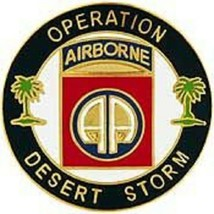 US Army Operation Desert Storm 82nd Airborne Pin - $5.93