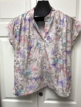 Vintage 70's Peggy Lou California Size 42 Floral Womens Button Shirt - $6.92