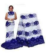 pqdaysun African Lace Fabric Milk Silk Nigerian French Lace Net Fabric E... - $49.62