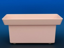 Mid Century Modern Hard Plastic Pink Window Box Planter Quality Molding c.1960 image 2