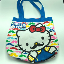 HELLO KITTY CLUTCH PURSE BAG Sanrio moustache travel luggage case rainbo... - $21.78