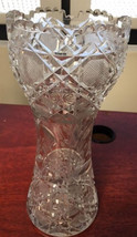 ABP Vase Pressed Cut Glass 10 inches Tall - $195.00