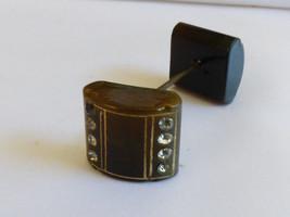 VTG Art Deco style Bakelite & Rhinestones Block hat pin stick - $94.05