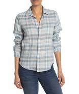 Frank & Eileen Barry Plaid Linen Blend Button Down Shirt XS - $83.22
