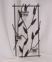 PartyLite Natures Garden Leaf Sconce Brown Powder Coat Antiqued Bronze A... - $24.70