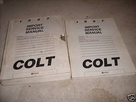 1987 Dodge Colt Service Repair Shop Workshop Manual Set OEM Set Factory - $9.58