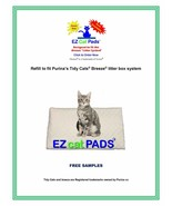 """EZ Cat 40ct Refill Pads for 16.9 x 11.4"""" Litter Box System FREE SAMPLES - $23.99"""