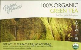 1 Box, Prince of Peace 100% Organic Green Tea, 6.35 Oz / 180g - 100 Tea Bags - $12.99