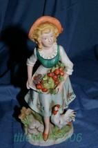 Homco Vintage Farm Girl Figurine 8881 Home Interiors - $8.99