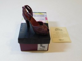 Just The Right Club Shoe by Raine Late for a Date plum Item #25065 COA NOS - $21.77