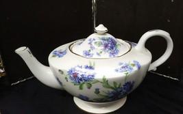 "Vtg Hammersley Blue Cornflower Tea Pot 9 1/2"" As Is - $83.80"