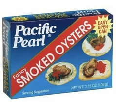 Pacific Pearl Fancy Smoked Oysters 3.75 Oz (Pack Of 8) - $79.19