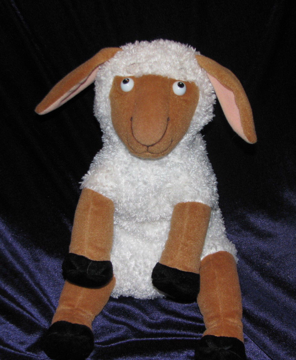 MERRYMAKERS STUFFED PLUSH LAMB SHEEP BLAST OFF DOLL TOY FROM NANCY SHAW BOOK