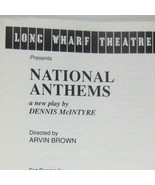 National Anthems Long Wharf Theatre 1989 Tom Berenger Kevin Spacey McDon... - $59.39