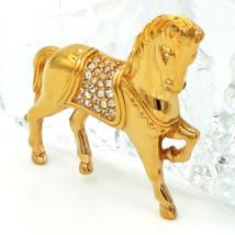 Swarovski Crystal Horse Brooch with Swan Logo and Pave Set Crystals - $68.00