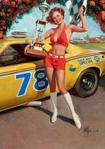 Art print POSTER/Canvas Pin Up Napa Auto Parts - $3.95+