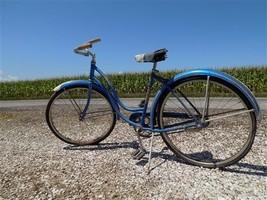 1958 Chicago Schwinn American Bike Bicycle Womens Blue Serial# J818639 - €175,45 EUR