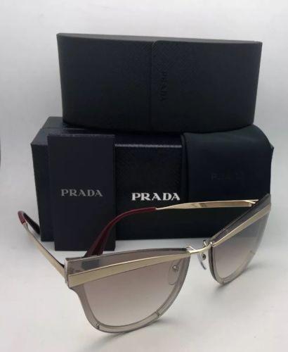 72674409ef44 New PRADA Sunglasses CATWALK SPR 12U KNG-4O0 Beige Marrone Chiaro Gold w   Brown