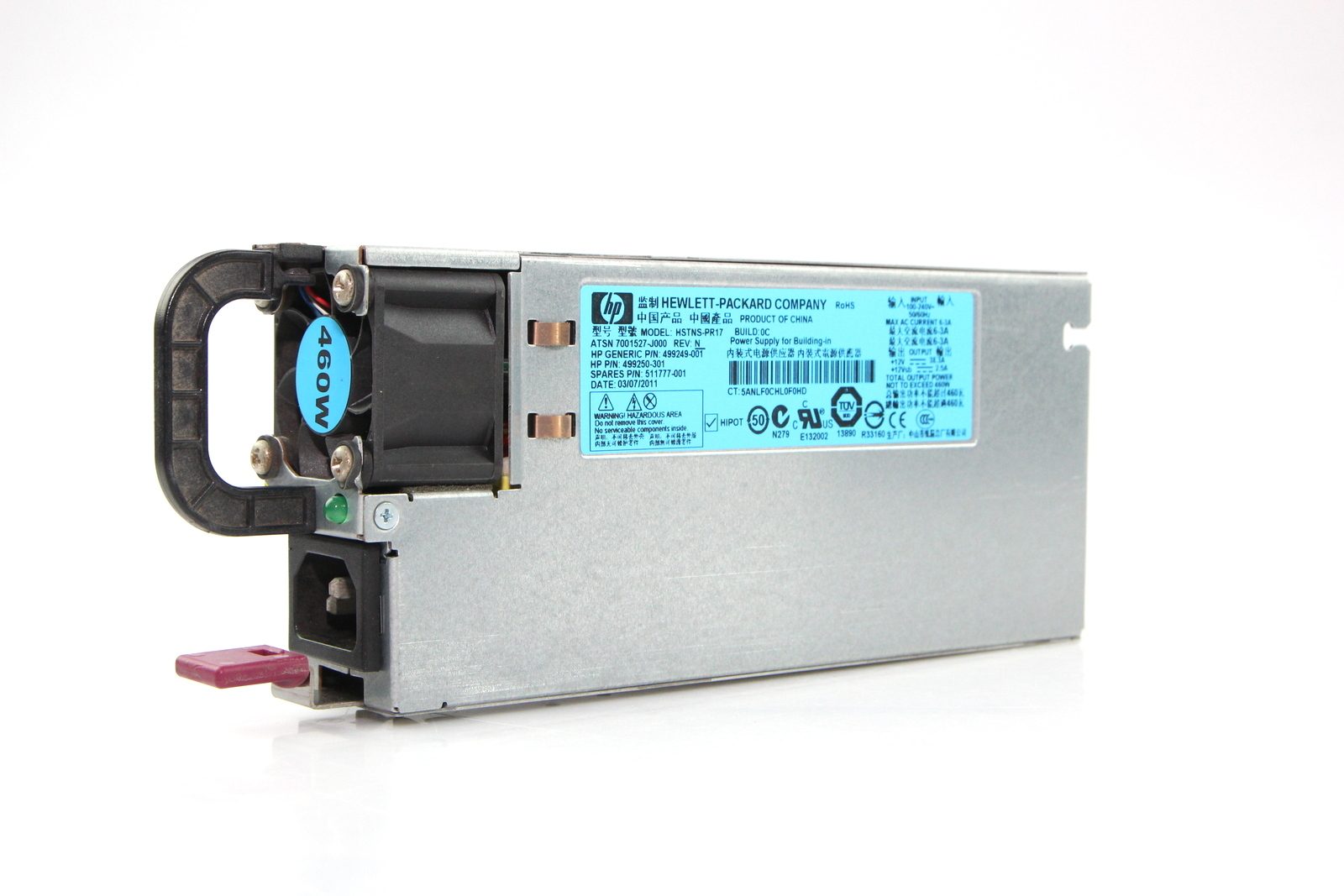 HP HSTNS-PR17 460W Power Supply (499250-301) Bin:13