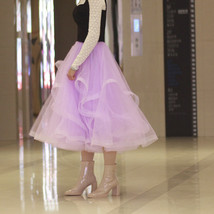 Layered Tulle Skirt Princess Outfit Plus Size Wedding Outfit Purple Tiered Skirt image 2