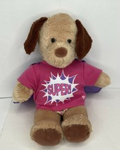 Build A Bear Workshop BAB Dog Puppy Barks Super Girl Shirt w/Cape & Underwear - $19.79