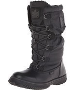 Coach Sage Nylon/Leather Cold Weather Hiking Snow Boots Black 7 Nib - $132.99